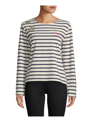 Marc Jacobs Striped Long-Sleeve Top