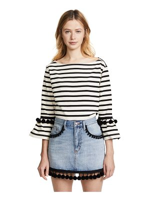Marc Jacobs striped top with pom poms