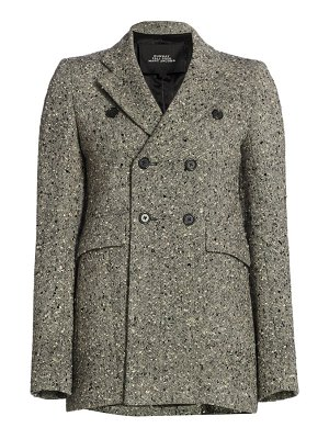 Runway Marc Jacobs tailored wool tweed double breasted jacket