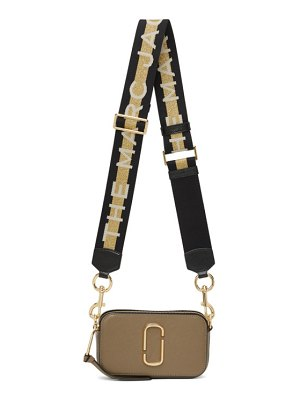 Marc Jacobs taupe and off-white small snapshot bag