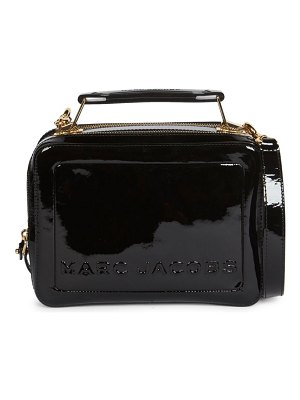 Marc Jacobs the box 23 patent leather top handle bag