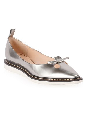 Marc Jacobs The Mouse Metallic Ballet Flats