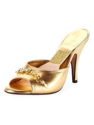 Marc Jacobs The Mule Metallic Slide Mules