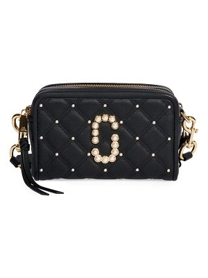 The Marc Jacobs the softshot embellished quilted leather camera bag