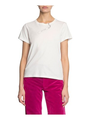 Marc Jacobs The Tag Short-Sleeve Logo T-Shirt