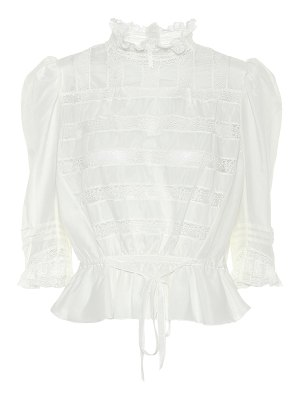 Marc Jacobs the victorian cotton and silk blouse