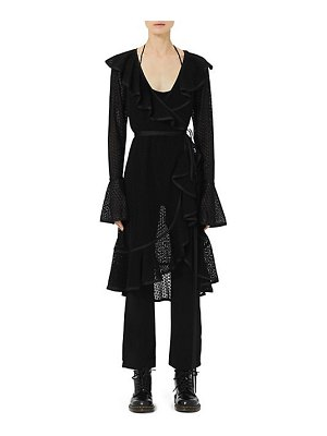 Marc Jacobs two-piece spot embroidered ruffle dress & jumpsuit set