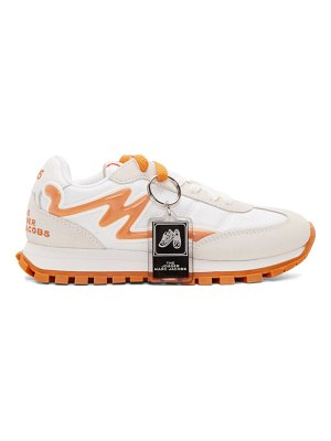 Marc Jacobs white and orange the jogger sneakers