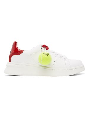 Marc Jacobs white and red the tennis sneakers