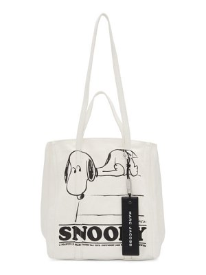 Marc Jacobs white peanuts edition the tag tote