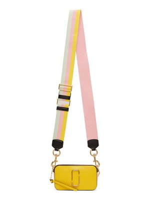 Marc Jacobs yellow and white small snapshot bag