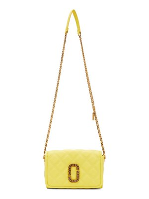 Marc Jacobs yellow the status flap bag