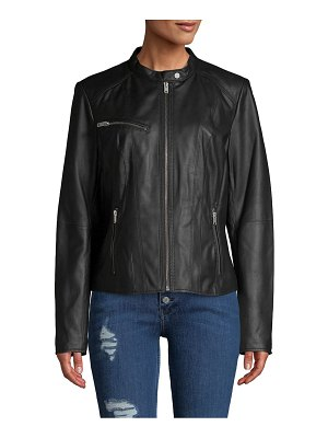 MARC NEW YORK by ANDREW MARC Classic Leather Motorcycle Jacket