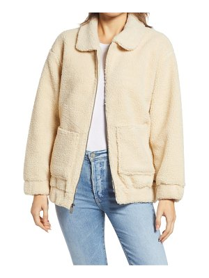 MARC NEW YORK faux shearling oversize jacket