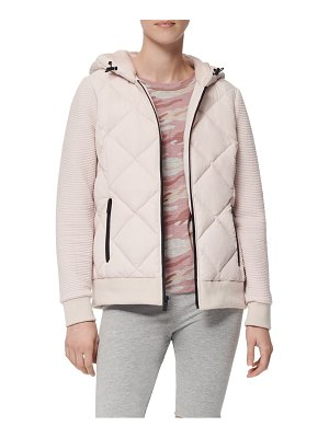 MARC NEW YORK hooded jacket with knit sleeves