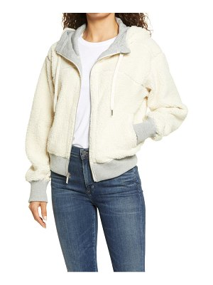 Marc New York Performance reversible faux shearling  hoodie