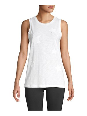 Marc New York Performance Star-Patch Cotton-Blend Tank Top
