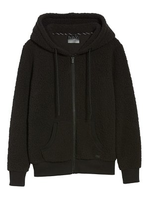 MARC NEW YORK teddy fleece zip jacket