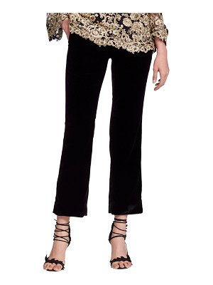 Marchesa Cropped Tailored Velvet Suiting Pants