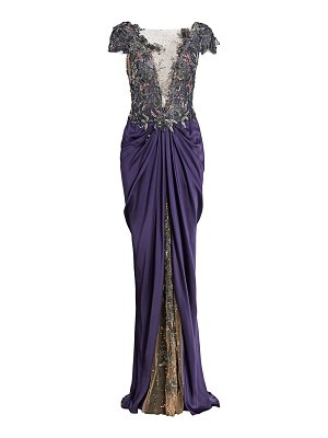 Marchesa embellished illusion gown