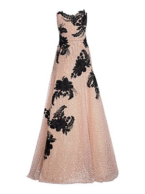 Marchesa embellished strapless tulle gown