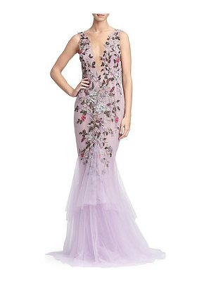Marchesa embellished tulle mermaid gown