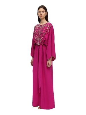 Marchesa Embroidered caftan dress