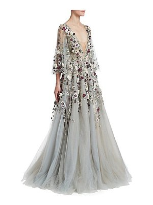 Marchesa floral embellished ball gown