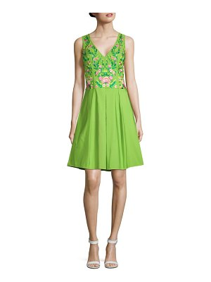 Notte by Marchesa Embroidered Fit-&-Flare Dress