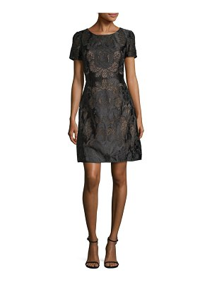Notte by Marchesa Embroidered Lace Fit-and-Flare Dress