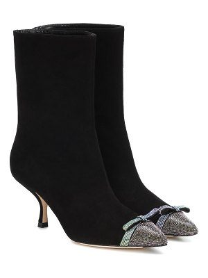 Marco De Vincenzo embellished suede ankle boots