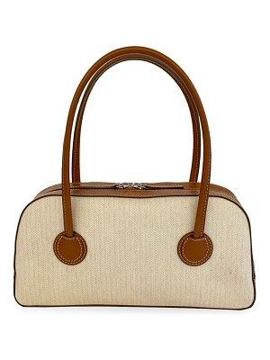 Marge Sherwood bessette leather-trimmed canvas tote