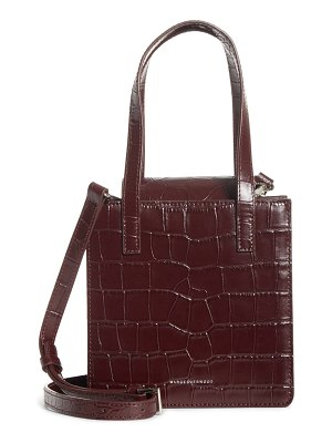 Marge Sherwood square croc embossed leather bag