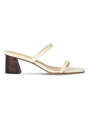MARI GIUDICELLI 60mm croc embossed leather sandals