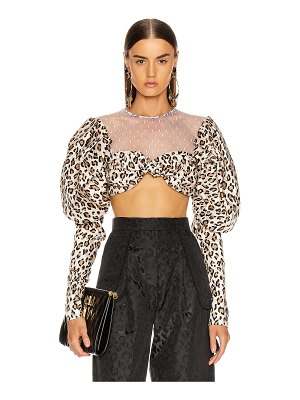 Marianna Senchina buff sleeve crop top