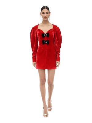 Marianna Senchina Embellished viscose & silk mini dress