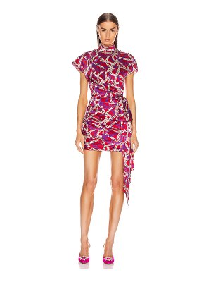 Marianna Senchina ruched side mini dress