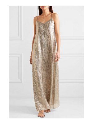 Marie France Van Damme metallic silk and lurex-blend maxi dress