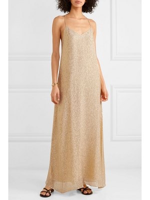 Marie France Van Damme silk and lurex-blend maxi dress