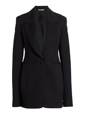 Marina Moscone basque stretch-wool blazer jacket