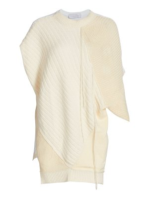 Marina Moscone cashmere & silk patchwork pullover top