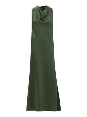 Marina Moscone cowl-neck satin dress
