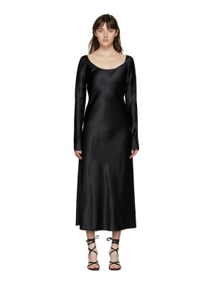 Marina Moscone heavy satin fluid dress