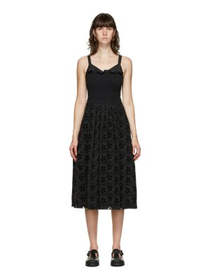 Marina Moscone smocked mid-length dress
