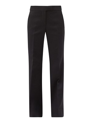 Marina Moscone high-rise canvas wide-leg trousers