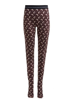 MARINE SERRE crescent moon print leggings