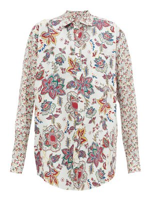 MARINE SERRE floral-print recycled-cotton shirt