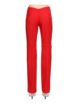 MARINE SERRE Wool blend pants w/ v-shaped back