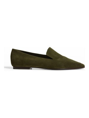 Marion Parke Carlisle Suede Square-Toe Loafers