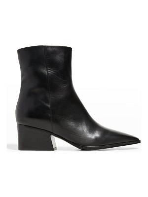 Marion Parke Pauline Leather Zip Ankle Booties